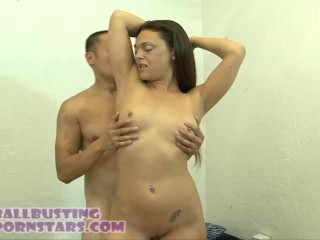 Girlfriend gets reveng on cheating boyfriend ballbusting with Olivia Wilder