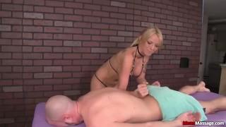 Dominant babe handjob Muscle jerking