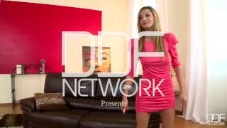 DDF Network - Romanian glamour model loves Double Penetration Sex dorm