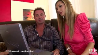 DDF Network - Romanian glamour model loves Double Penetration Style latina