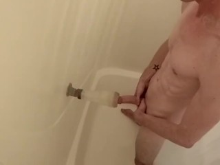 Sexy shower straight caught fleshjack fun