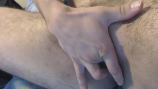 Muscular Transman FTM Stripping, Hard Pussy Fuck with Dildo Condom dresser