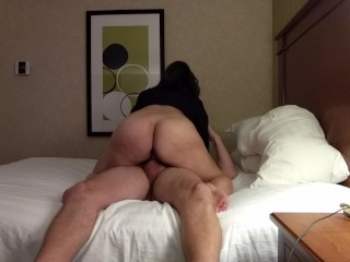 Amateur wife getting pussy pounded in motel fuck…