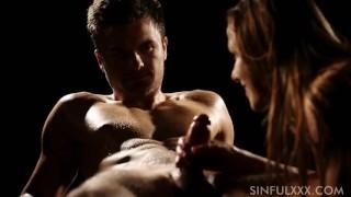 Blowjob slow and handjob sensual oile czech