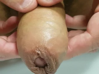 Sensual erotic ultra slow cock head and foreskin massage until I cum