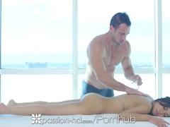 Passion-HD – Busty Shay Evans sucks and fucks hard cock during massage