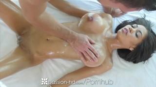 Passion-HD - Busty Shay Evans sucks and fucks hard cock during massage porno