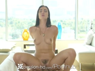 Passion-HD - Brunette Marley Brinx pounded by dick on the couch