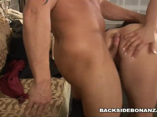 BACKSIDE British Slut Jordan Jagger is a Whore To Your Door for Fucking
