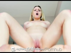 MyVeryFirstTime - Aubrey Sinclair fucks her step-brother for the first time