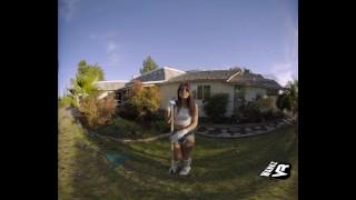 WankzVR - The Secret Garden ft Gina Valentina Music blowjobs
