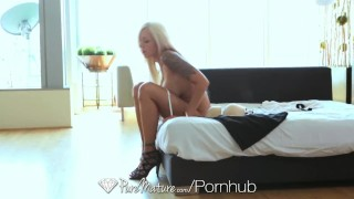 PureMature - Lucky dude fucks Nina Elle huge tits Doggystyle babes
