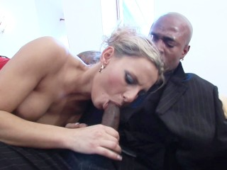Sex With Supermodel Tiffany Fucking, MILF ass gets stretched by big black dick Blonde Interracial MI