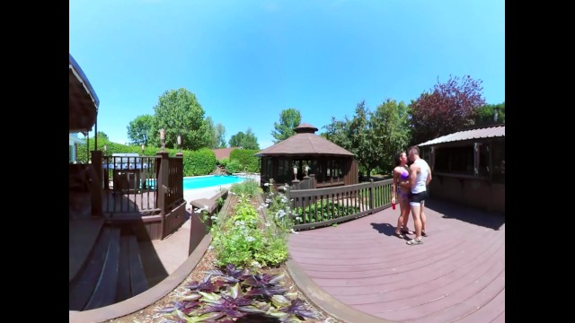 What is reality porn 3-way porn - vr group orgy by the pool in public 360