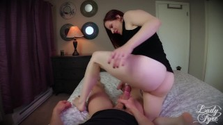 Fucked by Twin Sisters -Lady Fyre  cheating point-of-view redhead pov laz-fyre twin sister taboo milf ladyfyre hairy-pussy olivia-fyre twins butt red hair lady-fyre