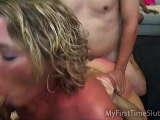 May Waters First Double Vaginal
