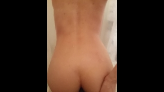 Shower doggy fun pov style up
