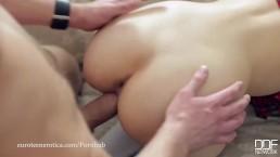 Euro Teen Erotica - Teen Nympho takes a 2 sausage study break