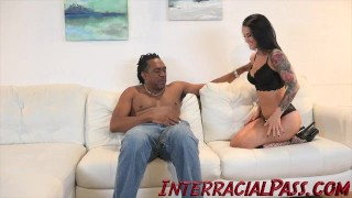 4K Katrina Jade gets tamed by the Biggest Black Cock! Blowjob hymen