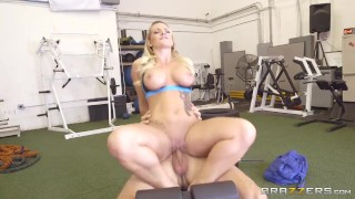 Preview 6 of Cali Carter gets fucked at the gym - Brazzers