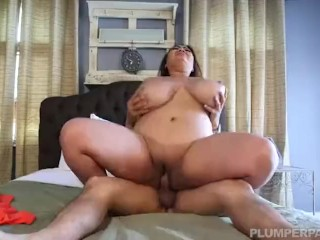 Busty Fat Asian Model Gets Massage from Latino Stud
