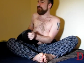 Teen boy with hairy belly