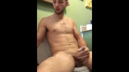 Jerking off and smoking in the bathroom