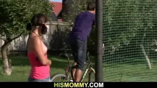Dildo her pleases gf son's with mom old old mature