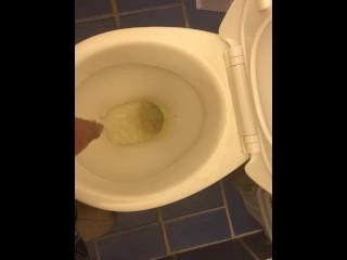 Me peeing into toilet