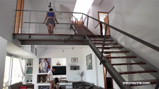 Preview 4 of Milf Ania Kinski Gives Teen Stepdaughter Anina a Lesson