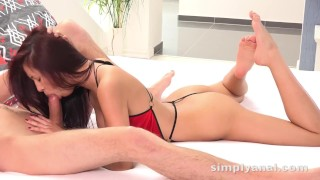 To rim and suck cock before it explodes on her