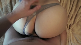 Girl in gray panties fucking in doggy style
