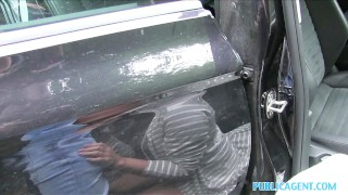 Preview 6 of PublicAgent Cute Bubble Butt babe fucked in a car