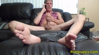 Foot Fetish Phone Sex - HUGE Cock and Cumshot - Richard Lennox - Manpuppy