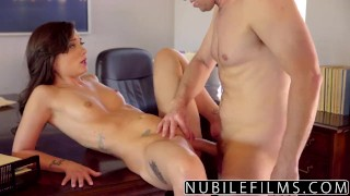 nubilefilms babe brunette petite skinny small-tits young hardcore blowjob ass-licking riding dick cowgirl shaved big-dick cumshot gia paige