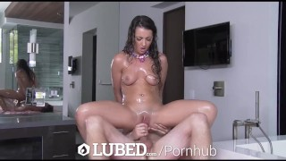 Lily soapy lubed sex adams shower brunette petite sex porn