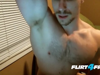 Hung College Hunk With an Armpit and Nipple Fetish Gets Off