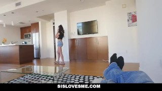 SisLovesMe - Lil StepSis Twerks For Me Step stockings