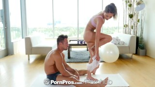 PornPros - Pretty skinny girl Shiloh Sharada fucked on yoga ball