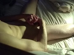 Teasing the meat straight guy stroking cock