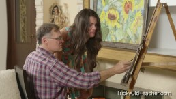 Tricky Old Teacher - Sintia fucks her ugly old art teacher