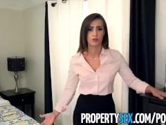 PropertySex - Sexy real estate agent with big ass fucks boss to keep job