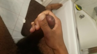 In jerks till cum solo bbc bathroom cum male