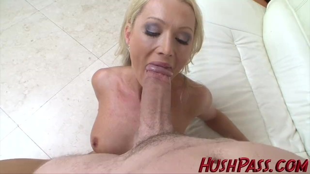 Biggest white cock Sexy blonde milf struggles with biggest white cock