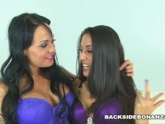 BACKSIDE Sexy Lesbian lovers Mahina Zaltana and Lyla Storm get pussy wreck