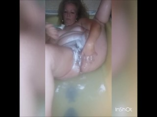 Hot Blonde Milf Shaving Legs and Pussy