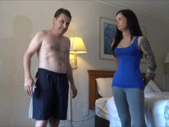 Ballbusting: Goddess Maria Marley destroys the testicles of Andrea Dipre