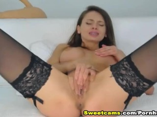 Smoking Hot Russian Babe Masturbates On Cam