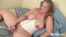 Busty Nixie Vibrating Her Snatch