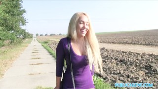 Real blonde teen with publicagent the boobs big ass blondes